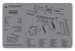 Apex Tactical Specialties Glock, Tekmat R17glockg4gy Glock Gen4 Grey Cleaning Mat