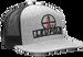 Leupold Reticle, Leu 170584 Reticle Flatbill Trucker Hat Hthr/blk