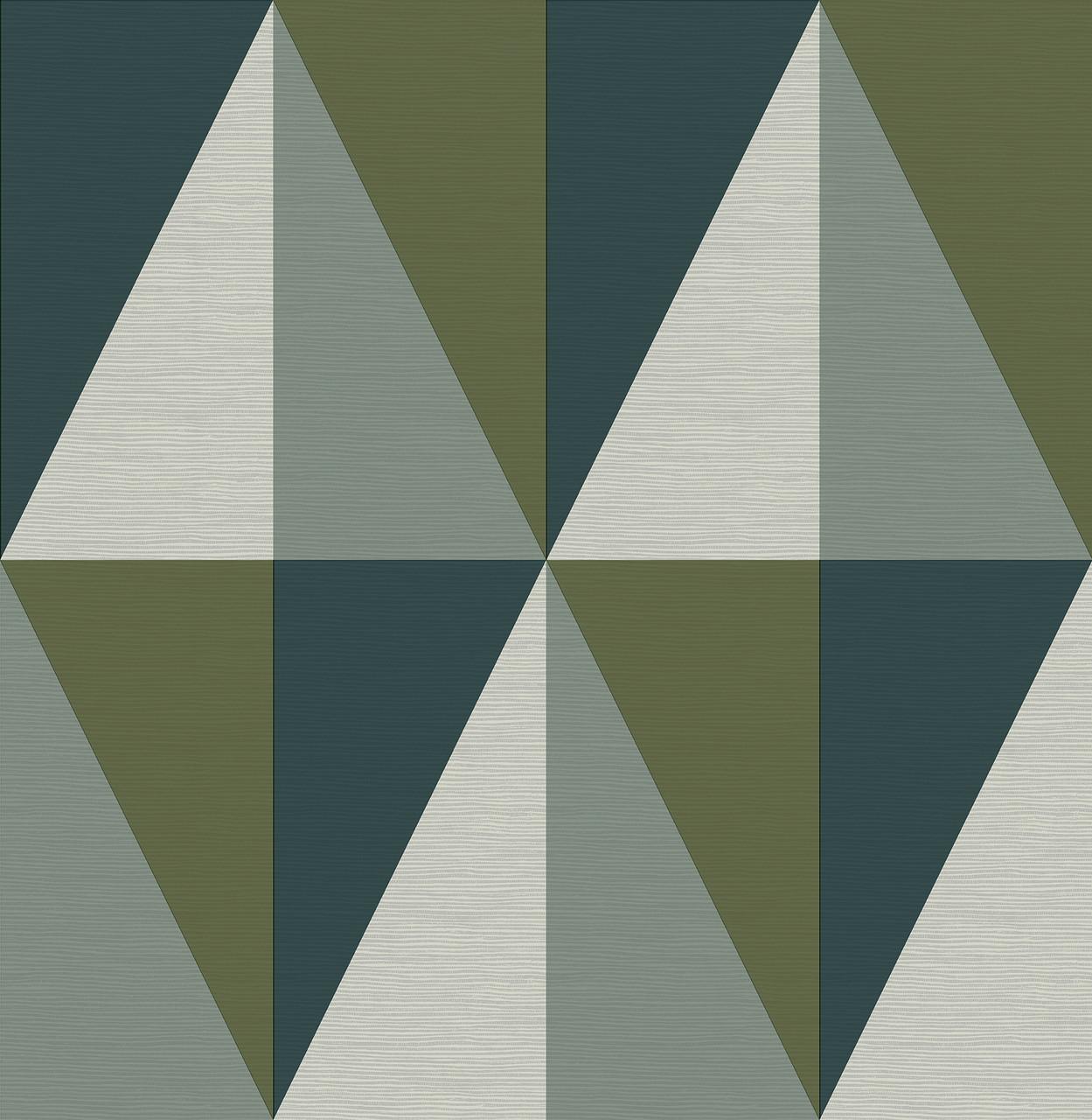 Aspect Green Geometric Faux Grasscloth Wallpaper