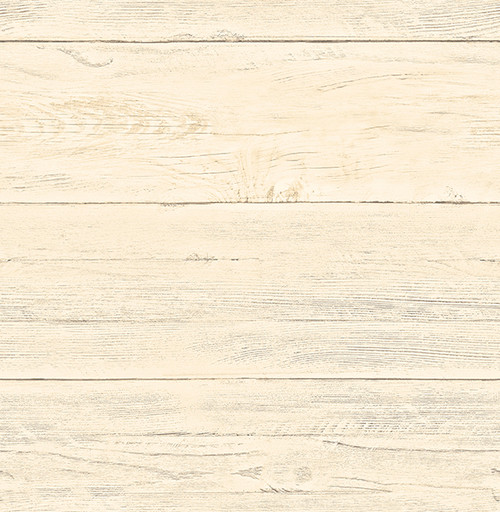 White Washed Boards Honey Shiplap Wallpaper