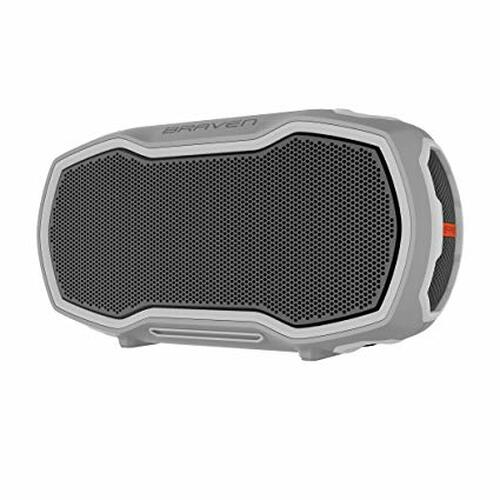 Braven Ready Elite Outdoor Waterproof Speaker. GRAY/GRAY/ORANGE