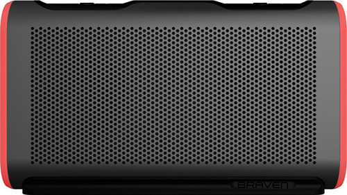 Braven Stryde XL Waterproof Portable Bluetooth Speaker GREY/RED