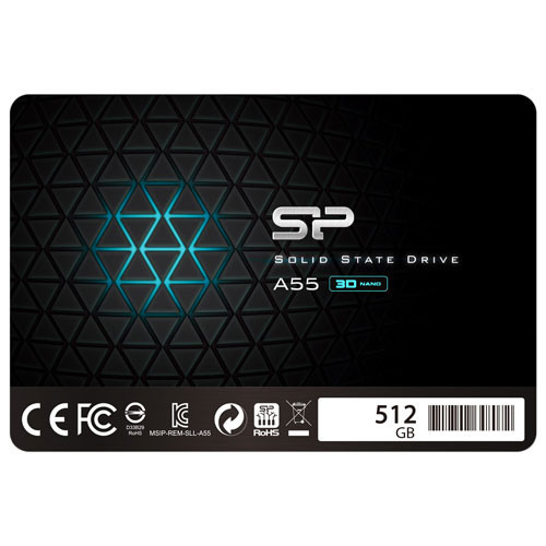 Silicon Power Ace A55 512GB SATA III Internal SSD (Model: SP512GBSS3A55S25CA)