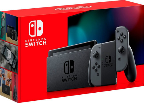 Nintendo Switch Console, Colour: Grey Joy-Con