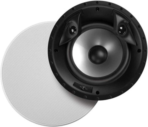 "Polk Audio 80F/X-RT In-Ceiling 2-Way Round Surround Speakers - 8"" Woofer, Dual 3/4"" Tweeters 100 Watts Paintable Sheer Grille White (PAIR) (AW8001-A)"