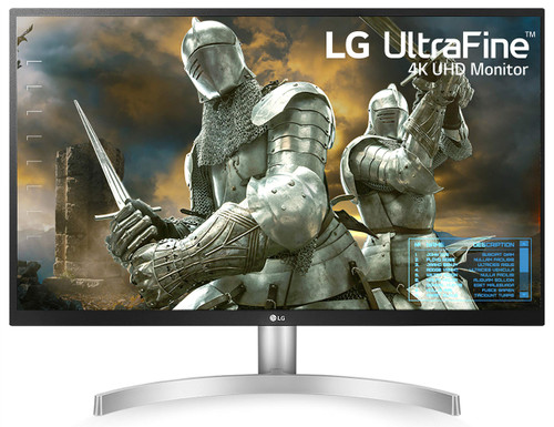 LG 27-Inch UHD (3840 x 2160) IPS Monitor with Radeon Freesync Technology and HDR10, Model: 27UL500-W, Colour: White