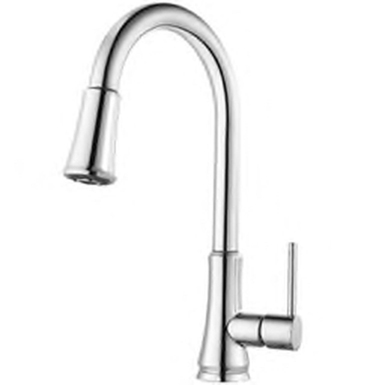 G529pf1c Price Pfister Kitchen Faucet 1 Hole Pull Down Kitchen Faucet With Single Lever Handle In Polished Chrome