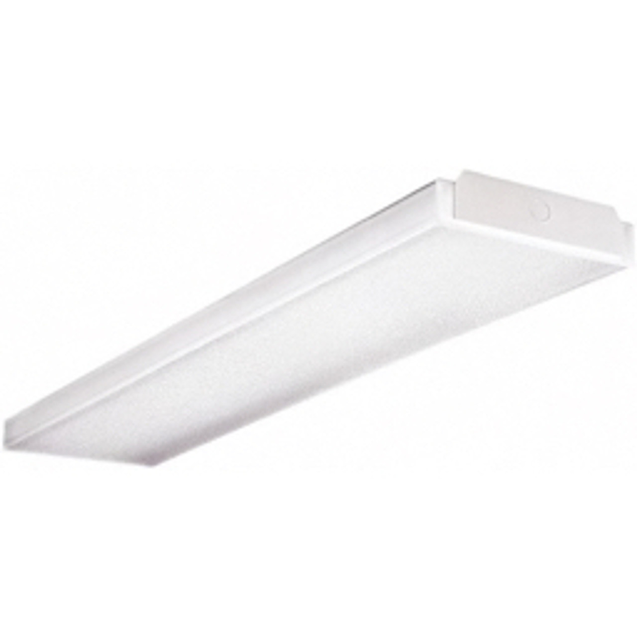 4 Ft Fluorescent Lamp Wraparound Light Fixture Surface Mounted Long 32 Watt 2 Lamp Cooper Lighting