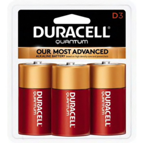 Duracell® - Batteries - Qu1300b3z D 1.5v Quantum Alkaline Battery - PK of 3