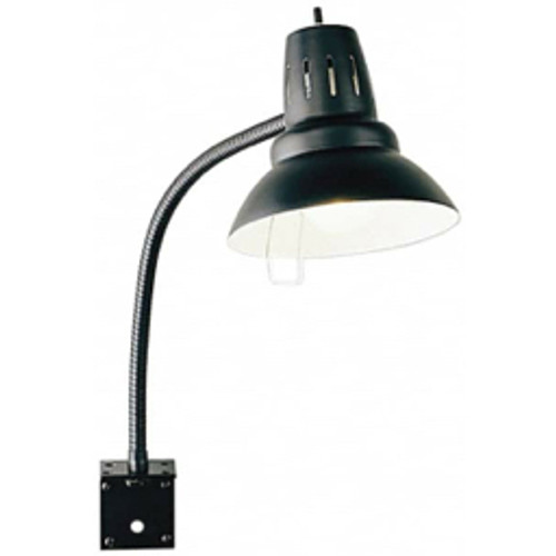 "Electrix - Task Light - 22"", Gooseneck, Bracket Mounted, Incandescent, Black, General Purpose Task Light"