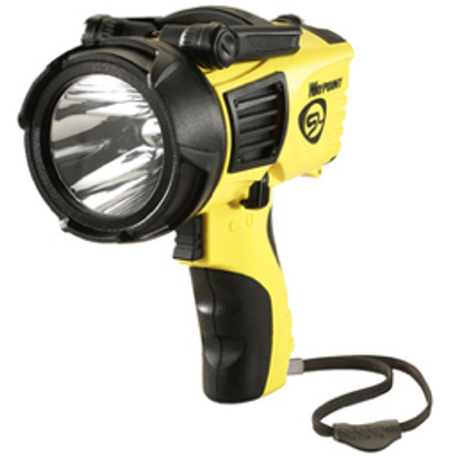 Streamlight® - Flashlight - Yellow Waypoint Non-Rechargeable Pistol Grip Spotlight with 12V DC Power Cord (Requires 4 C Alkaline Batteries - Sold Separately)