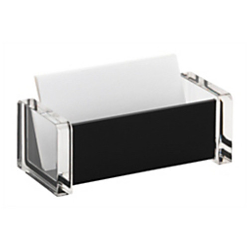 Realspace® - Business Card Holder - Acrylic Business Card Holder Black - CA of 12