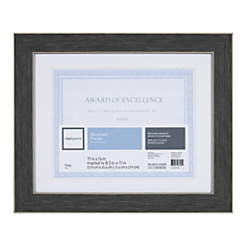 """Realspace® - Certificate Frame - Wyeth Document 11 x 14"""" Black Matted Frame - CA of 3"""