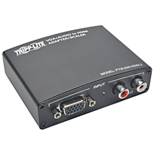 TRIPP•LITE - Converter - VGA to HDMI Component Adapter Converter with Rca Stereo Audio VGA to HDMI 1080pComponent VGA W RCA Stereo