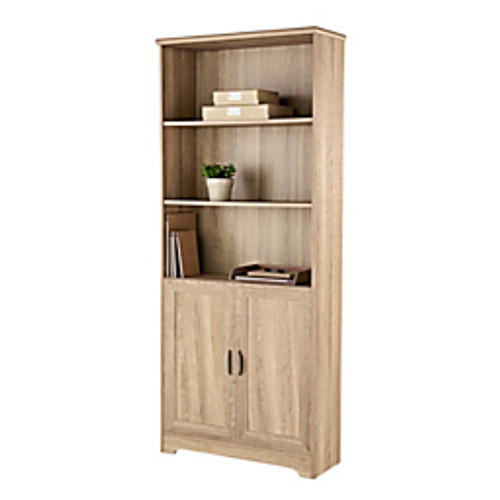"""Realspace® - Bookcases - Magellan 72"""" H 5-Shelf Bookcase with Doors"""