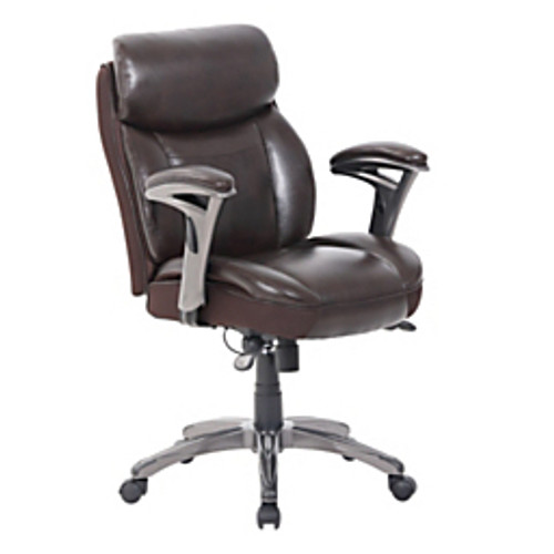 Serta® - Chair - Serta Smart Layers Siena Bonded Leather Mid-Back Managerial Chair