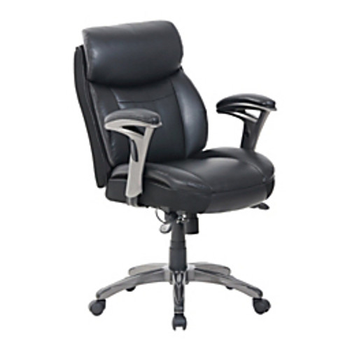 Serta® - Chair - Serta Smart Layers Siena Bonded Leather Mid-Back Chair