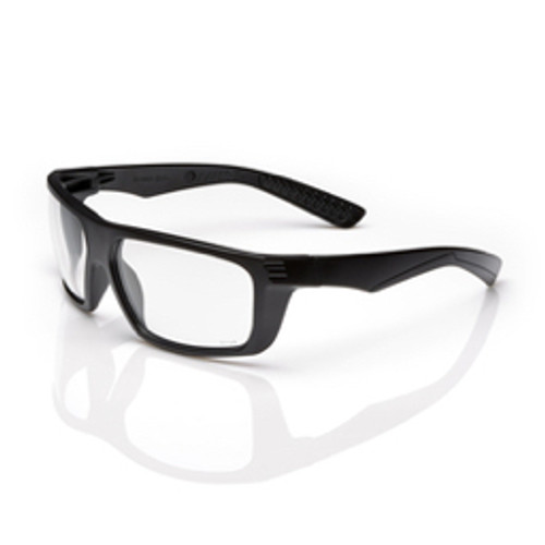 Radnor® - Safety Glasses - Dynamo™ Black Safety Glasses with Silver Mirror-Anti-Scratch Lens - CA of 4
