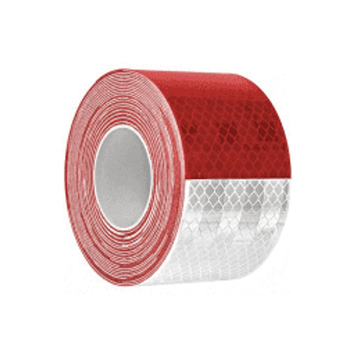 """3M™ - Conspicuity Tape - Diamond Grade™ Conspicuity Markings 983-32 Red-White, PN 67533, 2"""" x 150' Dot Conspicuity Tape"""