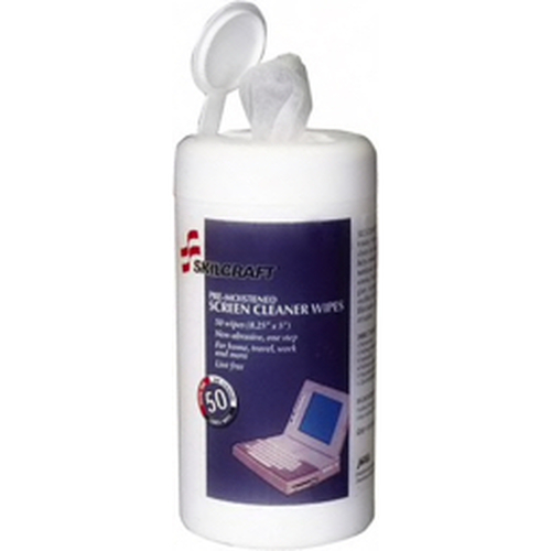 AbilityOne® - Tech Wipes - Pre-Moistened Screen Cleaning Wipes - PK of 50