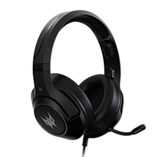 Acer - Gaming Headset - Predator Galea 350 Headset Phw920 50mm Neodymium Drivers - Retractable Noise Cancelling Mic - on-Cable Controls - Black
