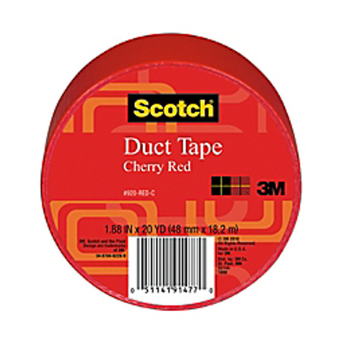 """3M™ - Tape - Scotch® Colored Duct Tape, 1-7/8"""" x 20 yds Red - Scotch® Duct Tape"""