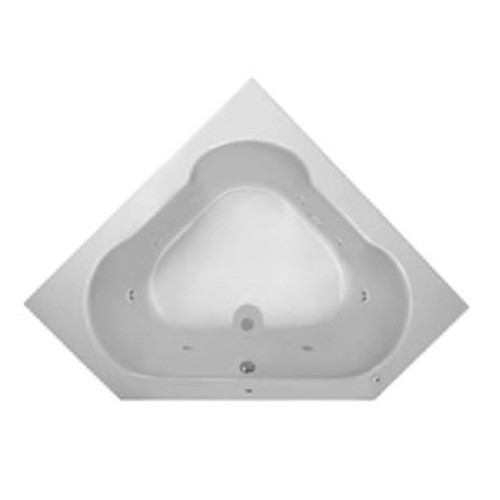 "PROFLO® - Whirlpool Bathtub - White Grass Valley 60"" Corner Whirlpool Bath 60"" x 60"" Left Hand Corner White"