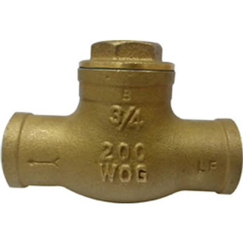 "PROFLO® - Check Valve - 1-1-2"" Brass 125# Sweat Swing Check Valve"