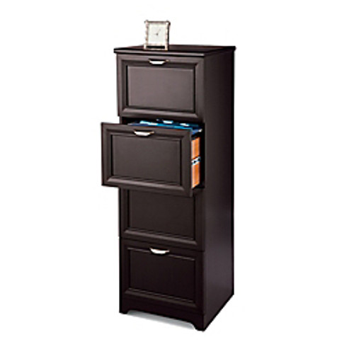 """Realspace® - File Cabinet - Magellan Collection 4-Drawer Vertical File Cabinet, 54"""" h x 18-3-4"""" w x 19"""" d, Espresso"""