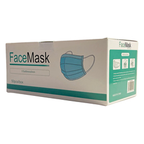 Foshan Yilikang PPE - Face Mask - 3-Ply Pleated Disposable Face Mask, Adult, One Size - BX of 50