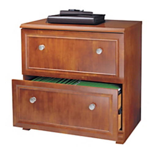 """Realspace® - File Cabinet - Broadstreet Lateral File Cabinet, 30"""" h x 29-1-2"""" w x 19"""" d, Maple"""