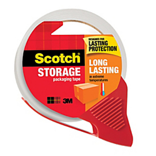"""3M™ - Shipping Tape - Scotch® Long-Lasting Moving & Storage Tape with Dispenser, 1-7/8"""" x 54. 6 yds, Clear"""