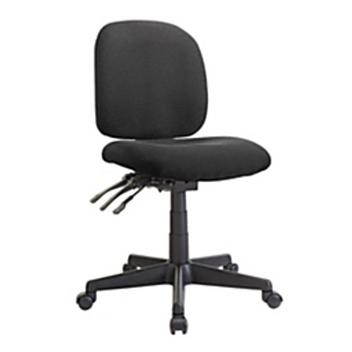 Realspace® - Chair - WorkPro® Mobility Multi-Function Fabric Task Chair, Black/Black