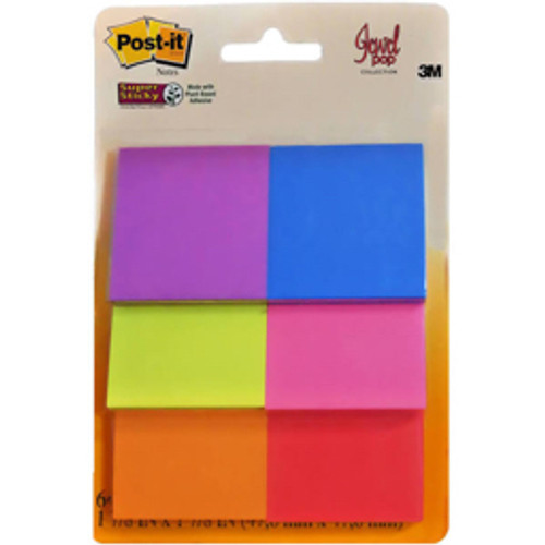 3M™ - Note Pad - Post-It® Super Sticky Notes - 6-Pk
