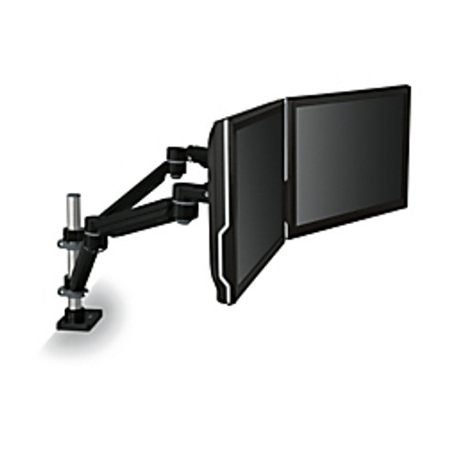3M™ - Monitor Stand - Adjustable Dual-Monitor Arm, 27-3/4in. x 6in. d x 27-3/4in. x 24-3/4in. w - black