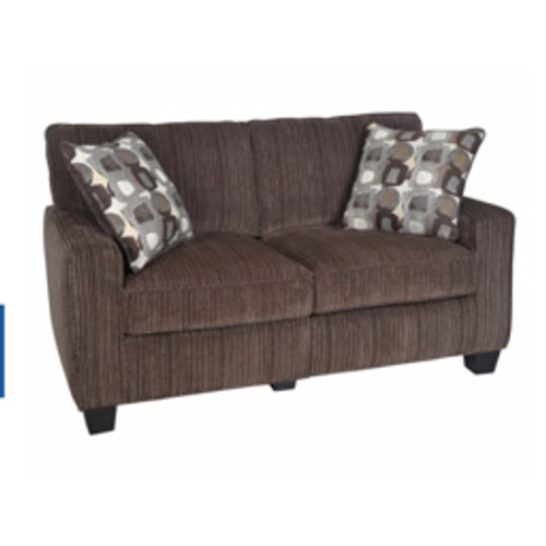 Serta® - Sofas - Rta San Paolo Collection Fabric Loveseat Sofa 61in.W, Mink Brown - Brown