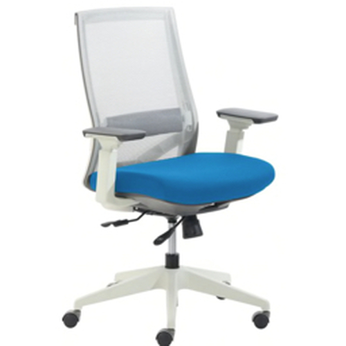 Serta® - Chair - True Commercial Pescara Mesh/fabric Mid-Back Executive Chair - White