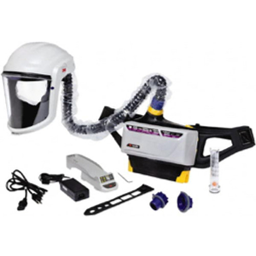 3M™ - Ratchet Adjustable 6-Point Suspension PAPR System Hard Hat Headgear, Face Shield, Use for Powder Coating, Spray Painting & Painting - Moq=1, Package Qty=1