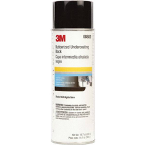 3M™ - Automotive Rust Prevention Coatings & Paints, Type- Rubberized, Container Size- 19.7 oz, Container Type- Aerosol Can, Color- Black, Psc Code- 8010 - CA of 6