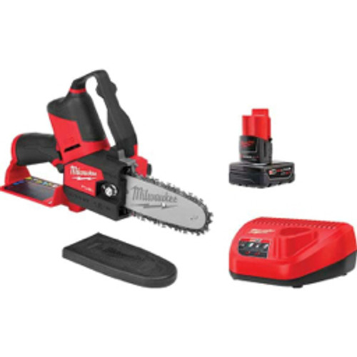 Milwaukee Tool - Chainsaws, Type of Power- Battery, Horsepower- 0, Voltage- 12, Speed - Rpm- 120, Guide Bar Length - in- 6, Chain Pitch - in- 3/8  2527-21