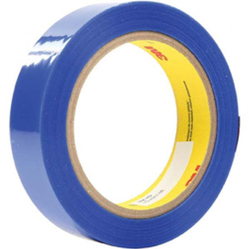 """3M™ - 72 yds x 4"""" Blue Polyester Film Tape 0.9 Mil, Silicone Adhesive - 9.9"""" x 9.9"""" x 10.6"""" - PK of 8"""