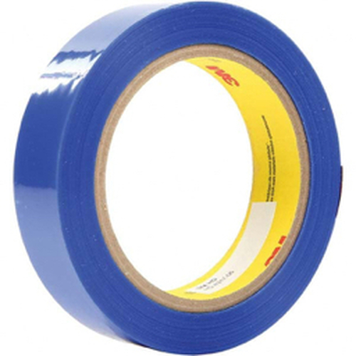 """3M™ - 72 yds x 3"""" Blue Polyester Film Tape 0.9 Mil, Silicone Adhesive - 9.9"""" x 9.9"""" x 10.6"""" - PK of 12"""