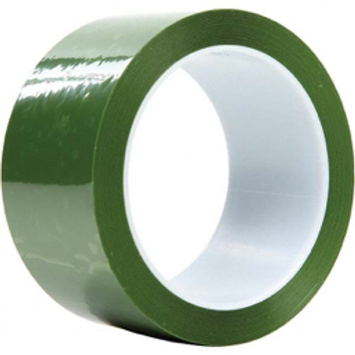"""3M™ - 72 yds x 12"""" Translucent Green Polyester Film Tape 0.9 Mil, Silicone Adhesive - 9.9"""" x 9.9"""" x 13.3"""" - PK of 4"""