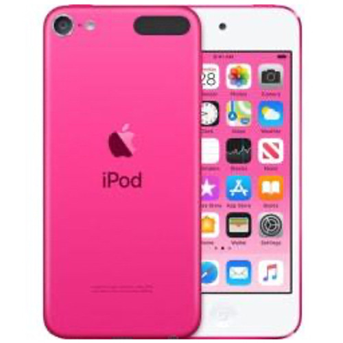 Apple - Headphones - iPod Touch 7g 32 GB Pink Flash Portable Media Player - 4in. 727040 Pixel Color Lcd - Touchscreen - Bluetooth
