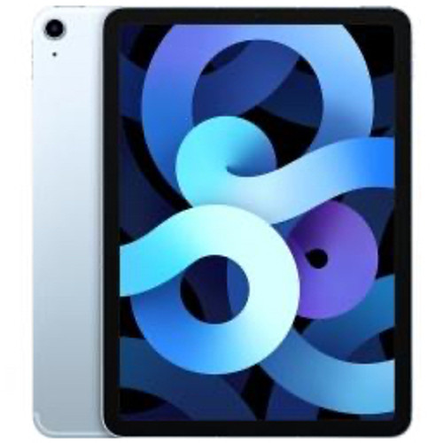 Apple - Tablet computers - Ipad Air - 4th Generation Tablet - 10.9in. - 256 GB Storage - Ipados 14 - 4g - Sky Blue - Apple A14 Bionic Soc - 7 Megapixel Front Camera - 9 Hour Maximum Battery Run Time