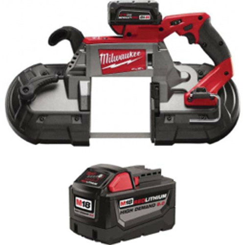 """Milwaukee Tool - 18 Volt, 44-7/8"""" Blade, 380 Sfpm Cordless Portable Band Saw Lithium-Ion Battery Included"""