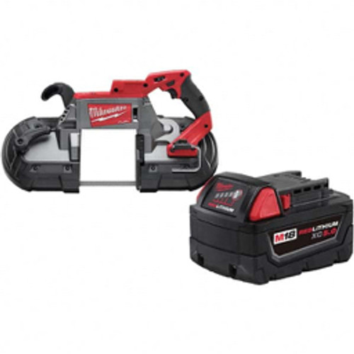 """Milwaukee Tool - 18 Volt, 44-7/8"""" Blade, 380 Sfpm Cordless Portable Band Saw Lithium-Ion Battery Not Included"""