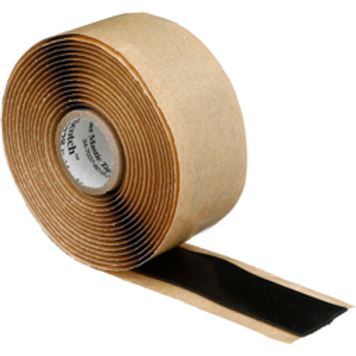 """3M™ - Electrical Tape, Width - in- 1, Length Range- 48"""" and Longer, Color- Black, Material Type- Epr with Liner, Length - Feet- 10, Thickness - Mil- 65"""