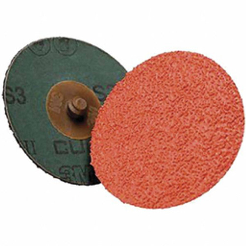 3M™ - 4in. 36 Grit Ceramic Quick Change Disc Type R Attachment, Coated, Fiber Backing, 12,000 Rpm - CA of 100