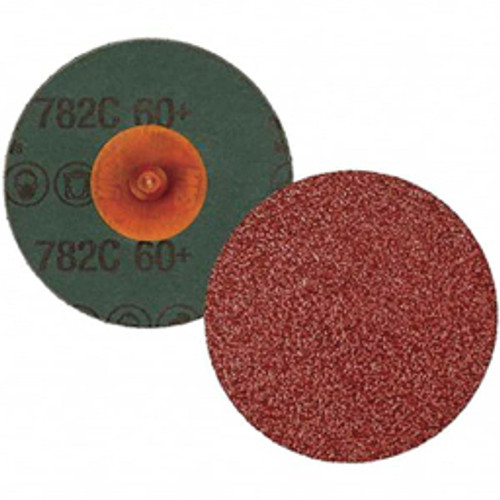 3M™ - 4in. 60 Grit Ceramic Quick Change Disc Type R Attachment, Coated, Fiber Backing, 12,000 Rpm - CA of 100